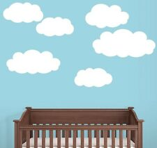 5 Clouds Wall Decals Deco Art Stickers - Matte Finish Material - FREE SHIPPING!