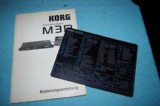 Korg m3r manuale d'uso