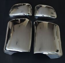 4x Stainless Steel Covers for Side Wing Mirrors SCANIA R P G L series trucks