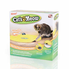 Cat's Meow Motorised Revolve Fun Play Toy Mouse Wand Tail Indoor Exercise 1713HC