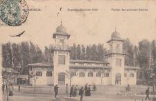 MARSEILLE expo coloniale 1906 22 pavillon des anciennes colonies timbrée 1906