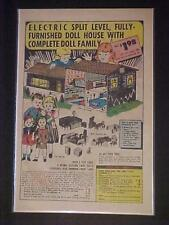 GIRLS ELECTRIC FURNISHED DOLL HOUSE DOLLS FAMILY 1968 TOY PRINT AD~ ORIG VINTAGE