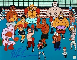 Iron Mike Tyson Autographed 16x20 Photo Nintendo Punch Out Cast ASI Proof