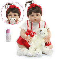 18'' Newborn Dolls Full Body Silicone Reborn Baby Dolls Lifelike Baby Doll Toy