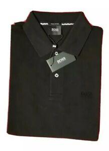 HUGO BOSS Polo Poloshirt M Herren schwarz Pima Cotton Neu mit Etikett