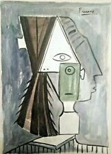 PABLO PICASSO ORIGINAL WATERCOLOR  DRAWING  ON PAPER,  SIGNED, STAMPED