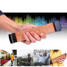6Fret Modell Tasche Gitarre Saiten Holz Praxis Gitarre Üben Tool Gadget Anfänger