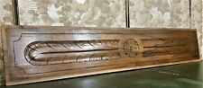 Rosette wood carving decorative pediment Antique french architectural salvage