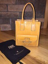 Frye Casey Mini NS Smooth Italian Full Grain Leather Tote Saffron Yellow $298