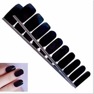 Jaysea Nails 100% Real Polish Strips - Color Black Street Nail Art - B4G1 Free!