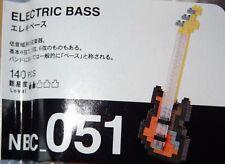Bass Guitar Nanoblock Micro Sized Building Blocks NBC051 Mini Nano Block Toy