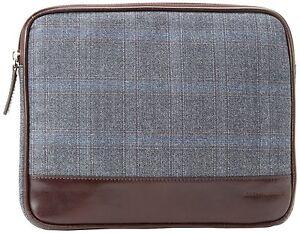 "JOSEPH ABBOUD-Elegant Leather & Tweed-iPad-Samsung 10"" Tablet Sleeve Carry Case"