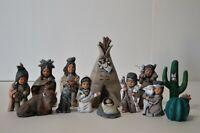 Vintage Provincial Mold 1989 Navajo Nativity Set Southwest 13 Piece Christmas