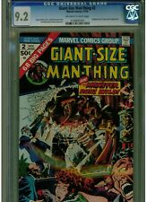 GIANT SIZE MAN-THING #2 CGC 9.2 1974 FANTASTICE FOUR &  TONY STARK APPEARANCE
