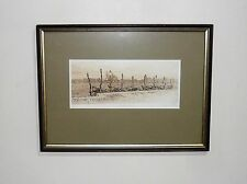 VINTAGE ENGRAVING TITLED  REDENTORE SIGNED BY ARTIST OLIN