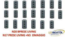 STOCK LIVING N 20  PRESE BIPASSO  L4180  OFFERTA LIVING N17+N3
