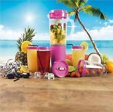 Pink Party Mix Blender centrifugeuse Ensemble 12 pièces fruits smoothie robot mixeur