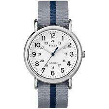 Timex Watch TW2P72300 man woman weekender white and blue classic indiglo