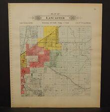 Nebraska Lancaster County Map Lancaster Township Dbl Side 1903  K17#17