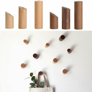 Wooden Hook Wall Hooks Hat Jacket Peg Coat Storage Hanger Hallway Home Decor