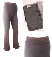 PRESTIGE Gray Stretch Slim Curve Fit Foldover Athletic Yoga Exercise Pant M NWT