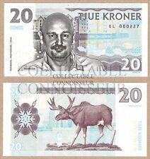 Norway 20 Kroner 2016 UNC SPECIMEN Private Issue Test Note Banknote - Erlend Loe