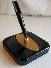 Vintage PARKER 309 Black Glass Fountain Pen 45 51 Desk Set Original w Label nice