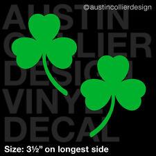 """Set of 2 * 3.5"""" SHAMROCK vinyl decal car laptop sticker - lucky irish clover"""