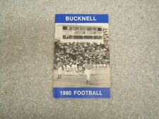Bucknell: 1980 Football Informational Pamphlet w/ Full Roster & Photos