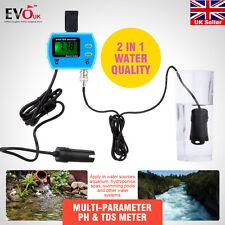 Mini 2 in 1 Water  Monitor Online pH / EC Meter Quality Tester Acidometer US