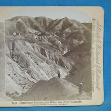 Stereoview Photo Palestine The Wilderness Of The Scapegoat Jarvis Underwood