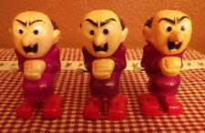 "Vintage 1982 Galoob Lot of 3 Gargamel Wind Up Walking Toy Smurfs Smurf 3.5"" Tall"
