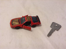 1982 Kidco Lock-Ups Car RED Turbo Trans AM + Original KEY Locking Doors & Wheels