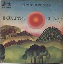 """Il guardiano del faro - Pensare capire amare - VINYL 7"""" 45 LP 1976 VG COVER VG"""