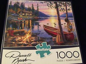 CANOE LAKE Darrell Bush 1000 Pc Jigsaw Puzzle Buffalo