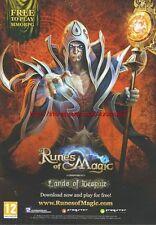 "Runes Of Magic Chapter IV Lands Of Despair ""PC"" 2011 Magazine Advert #4402"