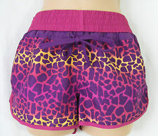 'Denim Co' Purple Animal Print Shorts - Size 8
