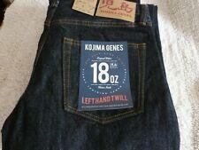 NEW JAPAN KOJIMA JEANS 36/33.5 REG Straight 18oz Left Hand Twill Mens Biker Jean