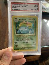 Venusaur Base Set 2 Psa 9 Mint Holo Pokemon 2000 #18