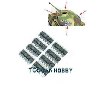 Silver Metal Side Armours for 1/16  Henglong 3888A German King Tiger RC Tank