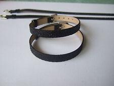 50 Black Faux Leather Belt Wristband fit 8mm Slider Letter Charms Bracelets