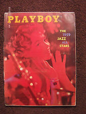PLAYBOY MAGAZINE. FEBRUARY 1959. RARE SUB CARDS STILL ATTACHED.