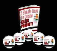 5 Simple Steps To Create Killer Products eBook & Videos on 1 CD