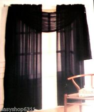 """TWO ADIELLE SOLID VOILE SHEER PANELS PAIR 60"""" X 63"""" NEW IN BAG"""