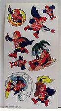 1987 An Busch Budweiser Beer Bud Man Sticker Sheet Sign