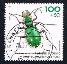 GERMANIA 1 FRANCOBOLLO PRO GIOVENTU INSETTI CICIDELIDAE 1993 usato