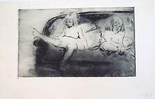 Louis LEGRAND (1863-1951) Eau forte originale Les Mioches 1893 P 1150