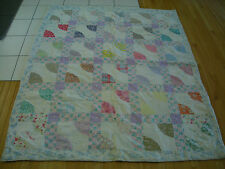 Vintage Antique Hand Embroidery Names Quilt 1930 Pattern Flower Feed Sack Aei