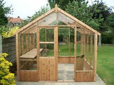 8 x 8 Joinery made Wooden Greenhouse Tannalised free delivery and erection