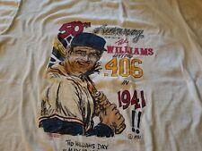 TED WILLIAMS VINTAGE BASEBALL TEE SHIRT XL THE KID 9